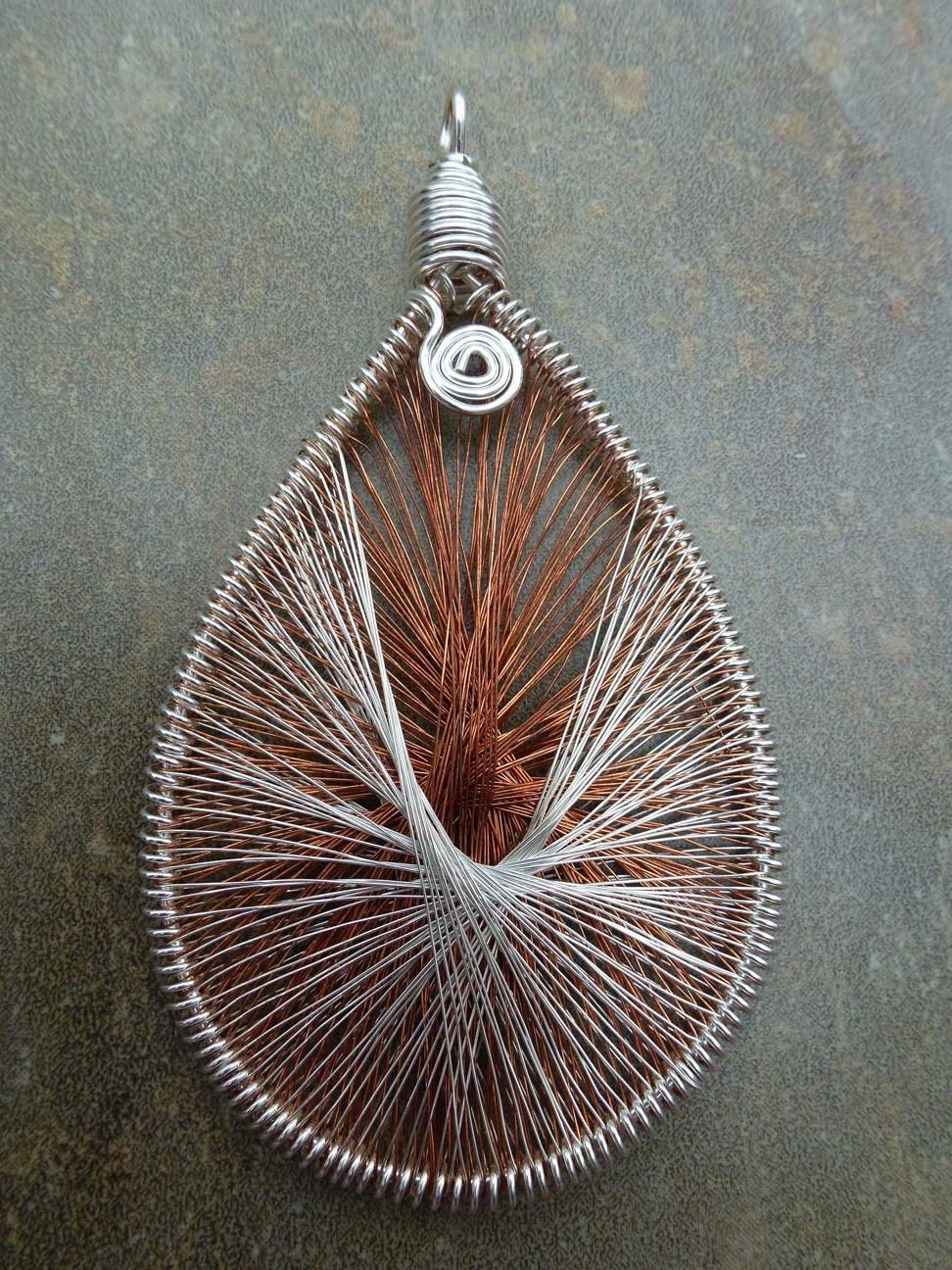 Peruvian weave pendant